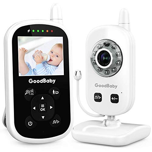Video Baby Monitor with Camera and Audio - Auto Night Vision,Two-Way Talk, Temperature Monitor, VOX Mode, Lullabies, 960ft Range and Long Battery Life