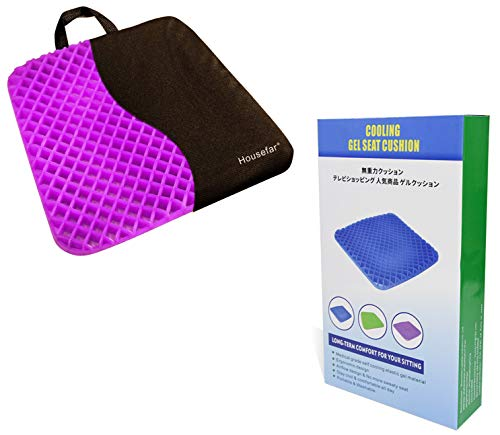 Gel Seat Cushion,Coccyx Cushion,Breathable Cushion Ergonomic Tailbone and Sciatica Relief Back, Honeycomb Designed Coccyx Pain Relief Seat Cushion for Office Chair Home Wheelchair