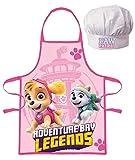 JAVOLI - Grembiule e cappello Paw Patrol La Paw Patrol Skye da cucina, per bambini da 3 a 8 anni