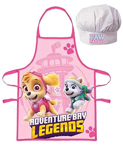 JAVOLI Tablier et Toque Paw Patrol La Pat Patrouille Skye Cuisine Déguisement Enfant de 3 à 8 Ans