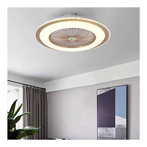 Plafond ventilator licht, Plafondlamp Simple Modern Ultradunne Fan Light Slaapkamer Children's Room Fan Light Restaurant Mute Kroonluchters