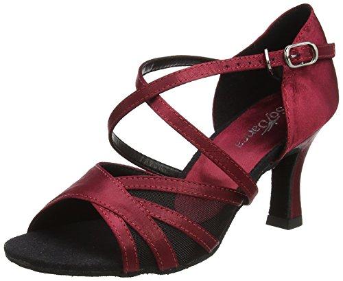 So Danca Bl162 Zapatillas de Baila Moderno y Jazz Mujer, Rojo (Burgundy), 37.5/38 EU (5 UK)