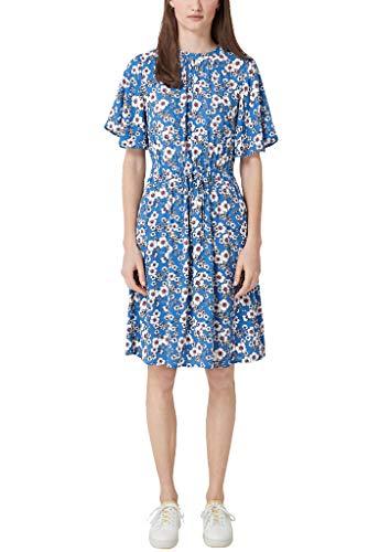 s.Oliver Damen 05.903.82.8683 Kleid, Blau (Blue AOP 56b4), (Herstellergröße: 46)