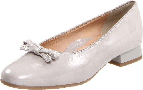 ara Women's Blake1 Flat,Light Grey Patent Leather,10 N US