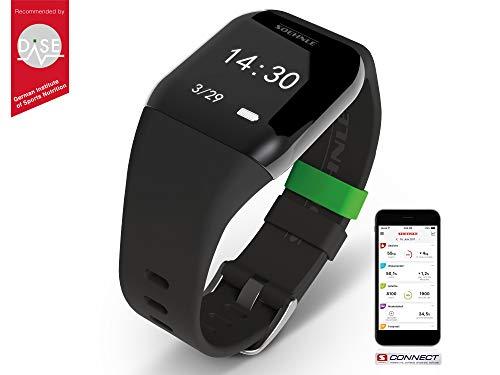 Soehnle Fitnesstracker Fit Connect 200 HR mit Bluetooth-Anbindung, Fitnessarmband mit bis zu 10 Tagen Laufzeit zählt Schritte & Kalorienverbrauch, Fitness Armbanduhr mit Schlafanalyse & Weckfunktion