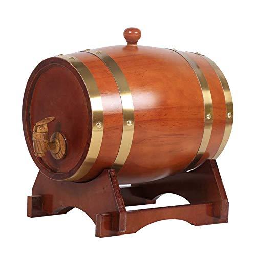BTCCL 1,5 L / 3L / 5 litros Barril de Vino, Decantador de Barril de Vino Envejecido En Madera de Roble para Mesa de Servicio Exhibición de Acento En El Hogar