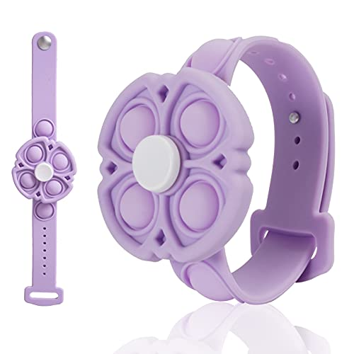 DISFAT Push Pop Bubble Sensory Fidget Bracelet, Fidget Spinner Pop Toysfor Kids and Adults, Simple...