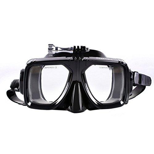 beetest-eu-adults donne uomini occhiali con vetro temperato trasparente SCUBA snorkeling nuoto formazione attrezzature accessori con supporto di montaggio per GoPro Hero 43+ 321Xiaomi Yi Action Sport camera