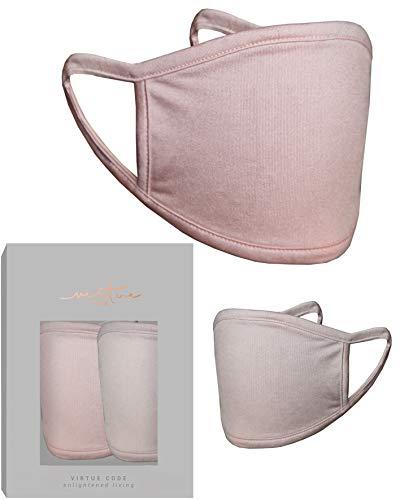 Máscara de seda de morera en color champán y rosa por VIRTUE CODE 2 piezas