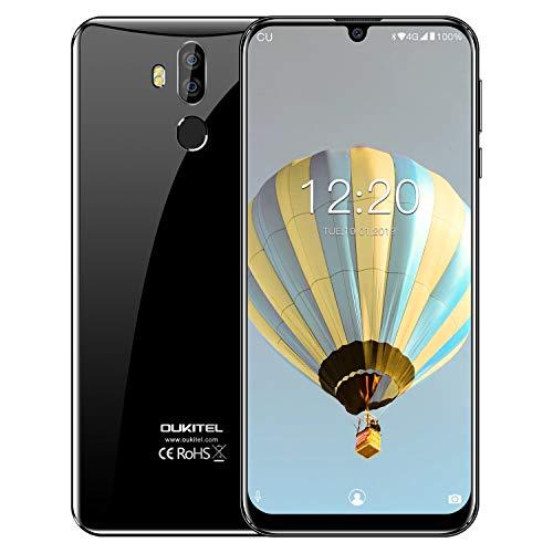 OUKITEL K9, teléfono Inteligente FHD Plus de 7.12 Pulgadas, Doble cámara con Flash LED DSDV 4G LTE sin Tarjeta SIM, 2 Ranuras, Carga rápida de Banda Global Tipo C USB (4GB RAM + ROM de 64GB) (Negro)