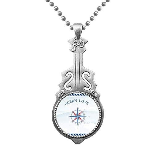 Compass Ocean Love Sea Sailing Pattern Anhänger Schmuck Musik Gitarre Torque Star Moon
