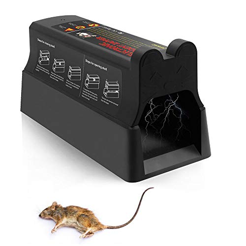 Suminey Electronic Rodent Zapper - Effective & Humane Mouse Trap That Works for Rats, Mice –Electric Pest Control Zapper Trap, 7000v Shock Instant Exterminator with Anti-Escape Door (New Version)