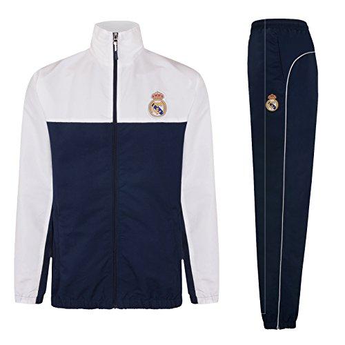 Real Madrid - Herren Trainingsanzug - Jacke & Hose - Offizielles Merchandise - Geschenk für Fußballfans - M