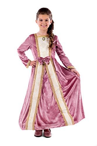 Fun Shack Disfraz de Princesa con Vestido Color Rosa para niña. Traje de la realeza para niños, Talla M