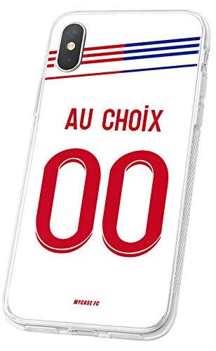 MYCASEFC Coque Football Personnalisable Lyon IPhone Se 2020 en Silicone. Housse de Foot pour Smartphone personnalisée et fabriquée en France en TPU