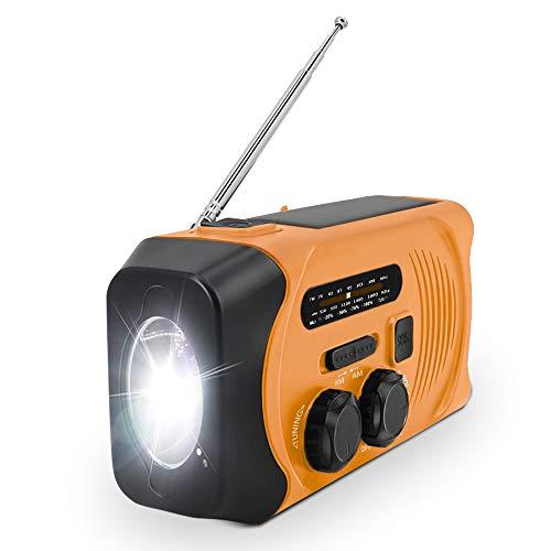 【進化版】手回し充電ラジオ 防災ラジオ ラジオライト 多機能 緊急ラジオ 非常用 手回し ラジオ 防災USB充電 太陽光充電 停電緊急対策 SOS警報 2000mAH AM/FMラジオ 携帯ラジオ