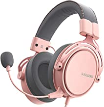 Soulsens Air SE Gaming Headset with 3D Bass for PS5 PC PS4 Xbox Over-Ear Computer Headset with Noise Cancelling Mic, Ultra Light Soft Memory Earpads Gaming Headphones for Switch