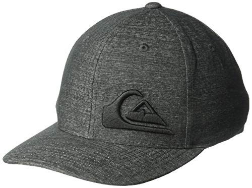Quiksilver Herren FINAL Stretch FIT HAT Baseball Cap, Charcoal Heather, L/XL