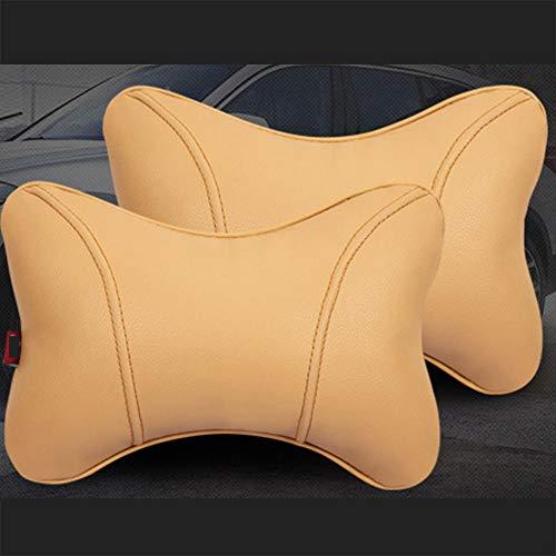 Reposacabezas de coche, reposacabezas de cuero Pu, reposacabezas duradero y transpirable, almohada de espuma viscoelástica para el cuello, accesorios para reposacabezas de asiento universal para coche