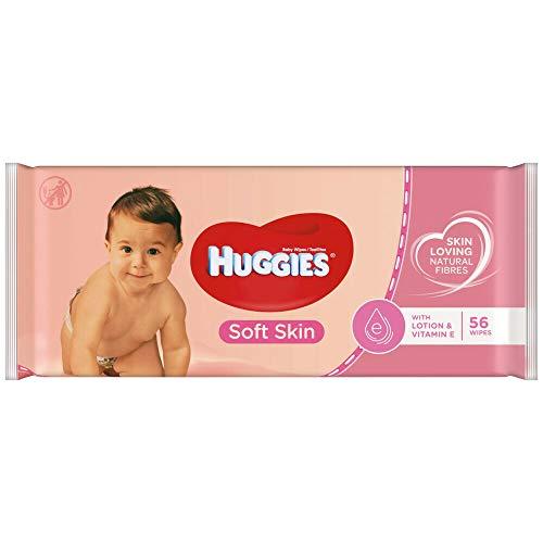 Toallitas húmedas Huggies Soft Skin (paquete de 56unidades)