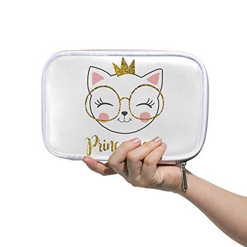 Estuche para lápices de cheyong con diseño de gatos de dibujos animados de gran capacidad para lápices, neceser de cosméticos con cremallera para mujeres estudiantes, 14 x 23 cm, color Color2. 5.5x9 inch