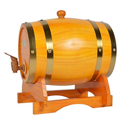 Weinfass, Weinfaß Bierfaß Harzhahn Weinherstellung for Sammlung Hauptdekorationhotelrestaurant Tingting (Color : Rice Brass Hoop, Size : 50L)