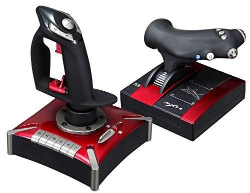 Gogh Simulación por Ordenador Aviones Joystick Juego de PC Palanca de Mando, Apoyo a la función de vibración, de Ocho Posiciones panorámica del Interruptor, USB, programación textuales, Rojo