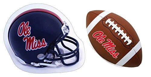 Mississippi Rebels 'Ole Miss' Helmet and Football Magnet Set
