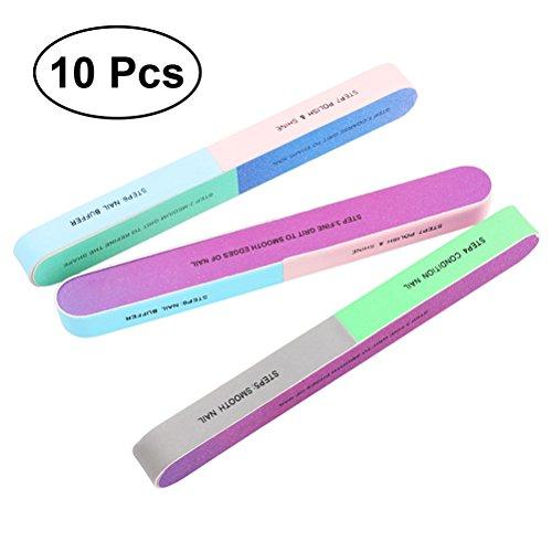 Frcolor Nagelfeile und Nagel-Puffer-kosmetische Maniküre, 6 Weise, 10 PACK