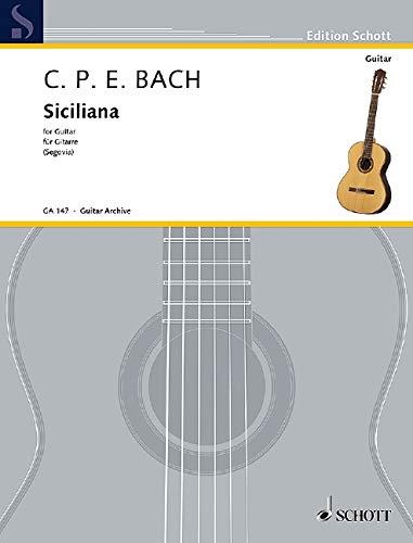 Siciliana d-Moll: Gitarre. (Edition Schott)