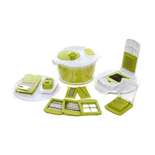 Set taglio con centrifuga per insalata Verde