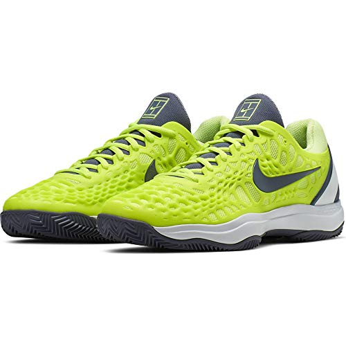 Nike Herren Air Zoom Cage 3 Cly Tennisschuhe, Mehrfarbig (Volt Glow/Light Carbon/White 701), 45 EU