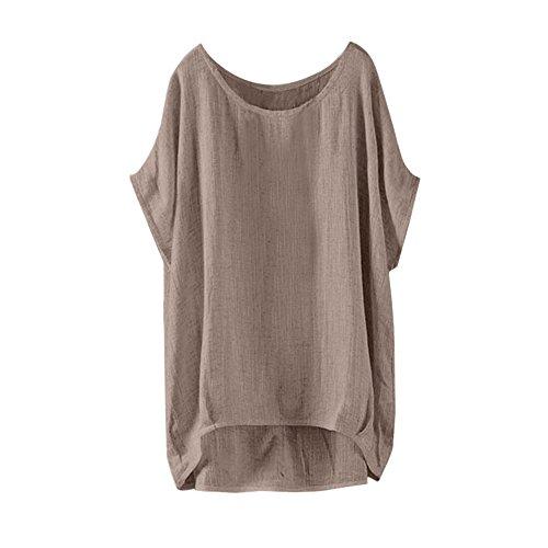 Frauen Fledermaus der kurzen Ärmel beiläufige lose Oberseite dünnes Abschnitt-Bluse-T-Shirt Pullover