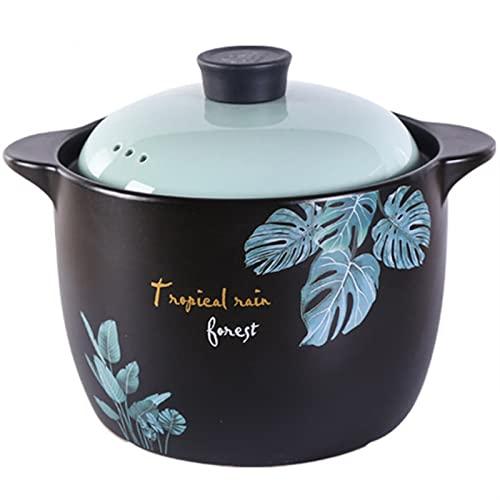 Pote de cocina de cerámica, cocción de olla de barro, olla de barro, Donabe japonés, Casserole de alta temperatura Casserole Cocina de cerámica suministros de cocina con tapa (Size : 6.5L)
