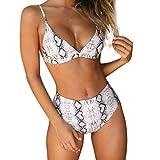 MEIbax Badeanzug Damen Sexy Bikini Snake Leopard Zebra Print Bademode Push-Up Gepolstert Monokini Lustige Strandmode -