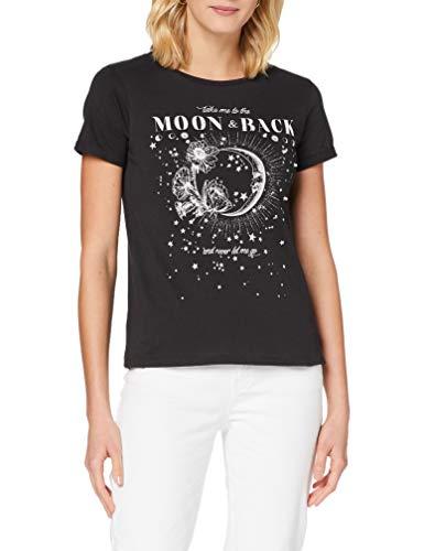 Springfield Camiseta Gráfica Luna T-Shirt, Gris, M Womens