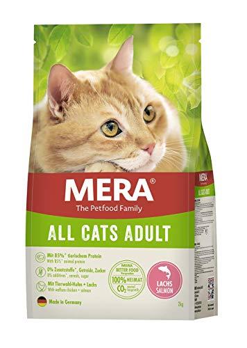 MERA Cats All Cats Lachs - Trockenfutter für ausgewachsene Katzen - getreidefrei & nachhaltig - Katzentrockenfutter mit hohem Fleischanteil - 2 kg