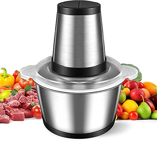Picadora Eléctrica de Alimentos Trituradora 300W 2L Picadora de Verduras Procesador de...