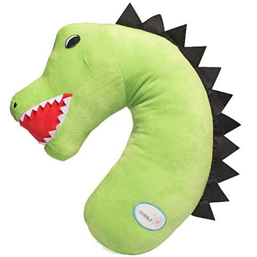 Tulatoo Dinosaur Travel Pillow - The fiercest Travel Neck Pillow and Kids Travel Pillow - Can be Used as a seat Belt Pillow for Kids, Kids car Neck Pillow, Seatbelt Pillow