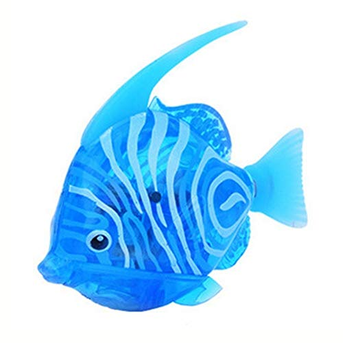 Egosy Swimming Electric Lifelike Robot Fish Activated in Water Electronic Toy Baby Bath Toy Battery Operated for Children Toy Gift Blue