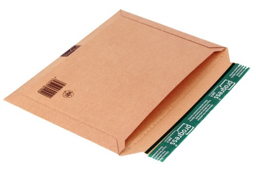progressPACK PP W05.06 Lot de 25 emballages d'expédition universels éco en carton ondulé Marron DIN B4 360 x 250 max 30 mm