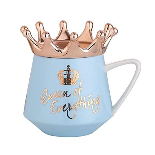 Taza 300Ml Corona Tema Leche / Tazas de café Dibujos animados creativos Tazas multicolores Taza Herramienta de cocina El mejor regalo de Navidad para novio o novia