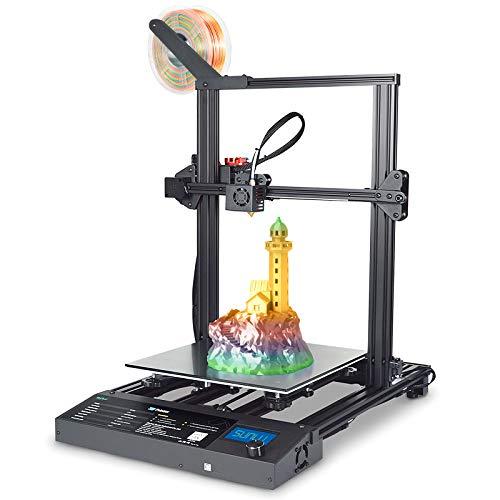 Impresora 3D SUNLU S8 Plus, tamaño de construcción grande de 310x310x400 mm, impresora 3D de ensamblaje ultrafácil, placa de vidrio de celosía, extrusora mejorada + kit de extremo caliente