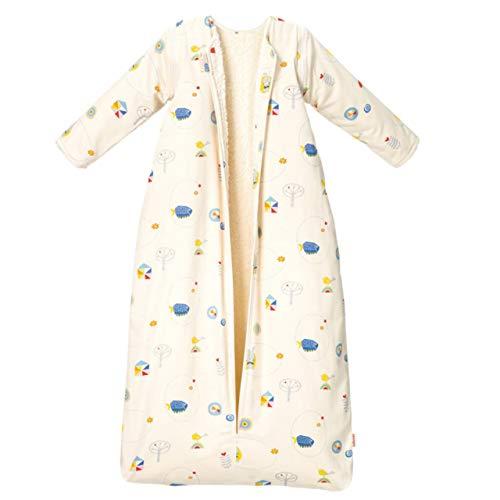 Cotonea Bio-Baumwolle Schlafsack mit Plüschfutter/abnehmbare Ärmel Meister Hase Größe: 130