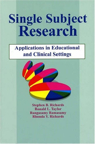 Single-Subject Research: Application in Educational and Clinical Settings