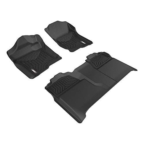 ARIES 2801009 Black Floor Liners Custom Fit Floor Mat, 1 P