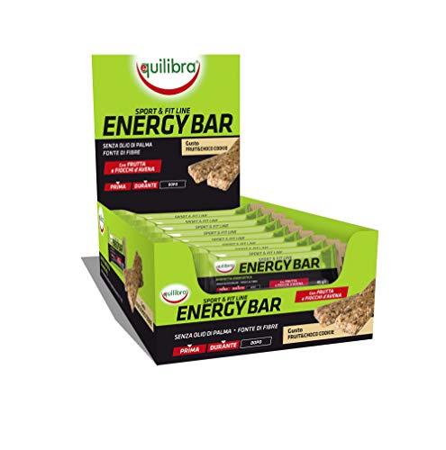Equilibra Energy Fruit & Choco Cookie, 24 barrette da 45 g