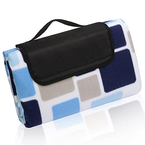 your GEAR Cube XL - Manta de picnic (200 x 200 cm, forro polar, impermeable y aislante)