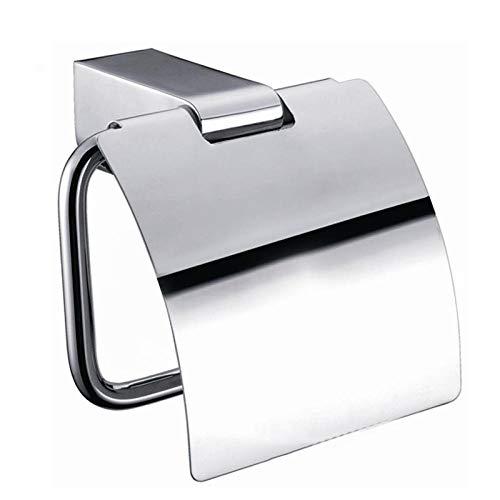 ZDY BOX Toiletpapier houder chroom toiletpapier houder met cover roll houder muur gemonteerd