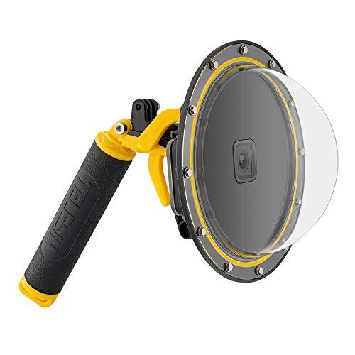TELESIN Dome-Port für GoPro Hero 8 , Unterwasser-Tauchtasche, Kamera-Objektivabdeckung, Objektivschutz, mit wasserdichtem Gehäuse, Pistolen-Auslöser, schwimmender Handgriff